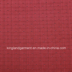 Polyester Jacquard Red/Navy Inherently Fire/Flame Retardant Fireproof Fabric pictures & photos