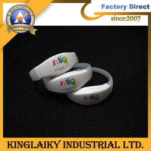 LED Wristband with Logo Printing pictures & photos