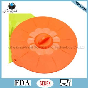 Silicone Food Cooking Cover Microwave Pot Lid Cover SL07 (L) pictures & photos