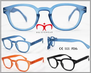 Hot Selling Plastic Rubber Finished Reading Glasses (WRP604569) pictures & photos