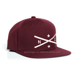 Acrylic Flat Brim Snapback Hat with Embroidery Logo pictures & photos