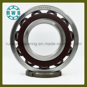Single Row Angular Contact with Bakelite Holder Bearing, Roller Bearings, Factory Production (7317AC)