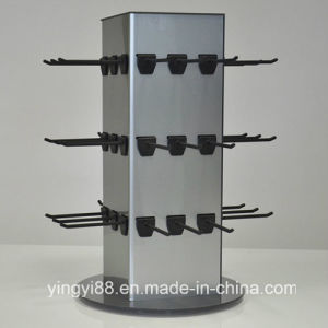 Super Quality Rotating Acrylic Exhibition Display Stand with Hooks pictures & photos