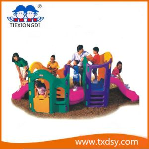 Indoor Preschool Playground Equipment Swing and Slide Set pictures & photos