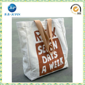Custom Shoulder Cotton Promotional Shopping Tote Bag Canvas Bag (JP-CB004) pictures & photos