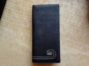 Guangzhou Supplier Designer Leather Long Men Wallet Passport Card Bag (Z-113)