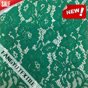 Good Quality Fashion Green Flower Lace Fabric