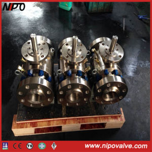 Forged Steel Flanged End Trunnion Mounted Ball Valve pictures & photos