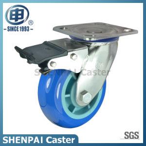 "8""Stainless Steel Bracket Swivel Locking PU Caster Wheel pictures & photos"