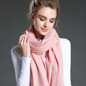 Women in Winter to Keep Warm Plain Pink Polyester Scarf Shawl pictures & photos