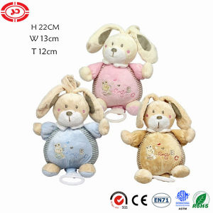 Rabbit Baby Cradle Ring Music Toy Plush Quality Stuffed Doll pictures & photos