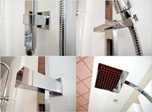 Watermark Approval Brass Construction Chrome Finished Rail Shower Set pictures & photos