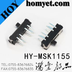 SGS 4pin DIP Slide Switch /Side Push Three-Position Toggle Switch (MSK-1155B) pictures & photos