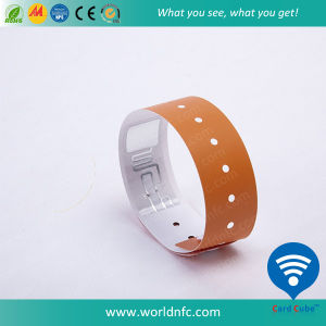 Event Disposible Smart RFID PVC Paper Wristband pictures & photos