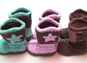 Wholesale Shoes and Hat Crochet Baby Shoes pictures & photos