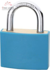 High Quality Aluminum Color Plastic Cover Padlock pictures & photos