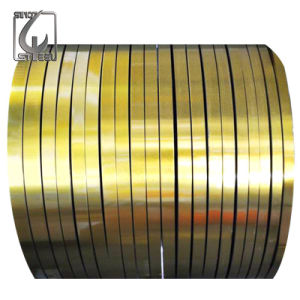 Prime Mr Grade 0.22mm Thickness Golden Lacquered Tinplate Steel pictures & photos
