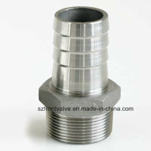 Investment Casting Stainless Steel Threaded Hexagon Nipple pictures & photos