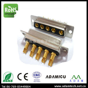 High Current Rating D-SUB 5W5 180degree Solder Type Connector