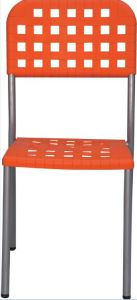 Cheap Outdoor Armless Plastic Stacking Dining Chair pictures & photos