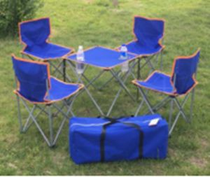 4PCS Chair and 1xtable Canvas Folding Chair with Cup Holder pictures & photos