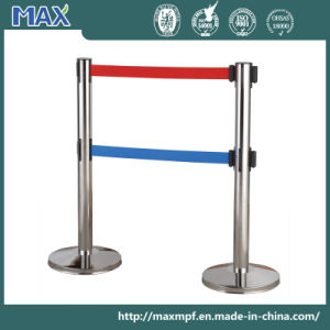 Stainless Steel 3m Double Retractable Belt Stanchion pictures & photos