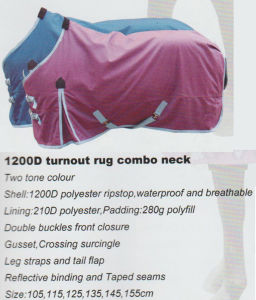 Horse Gear 1200d Turnout Rug Combo Neck