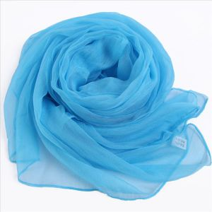 Scarf Made of 100% Silk Fabric, Solid Color pictures & photos