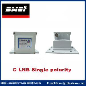 High Gain Low Noise C Band LNB Single Polarity pictures & photos