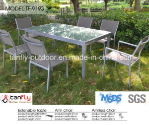 Top Quality Aluninum Frame Extensible Table and Textilene Chair