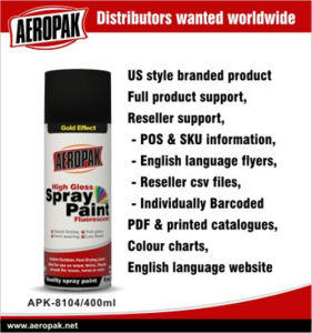 Aeropak Us Standard Multi-Function Metallic Spray Paint pictures & photos
