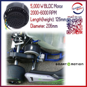 5kw 48V/72V/96V BLDC Brushless Electric Motorbike Motor pictures & photos