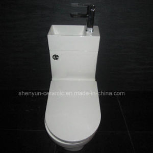Washdown Ceramic One-Piece Toilet with Hand Basin (A-008S) pictures & photos