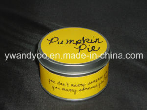 Pumpkin Pie Natural Candle in Tin pictures & photos