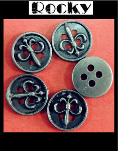 Fashion Design Metal Button Brass Buckle for Clothes pictures & photos