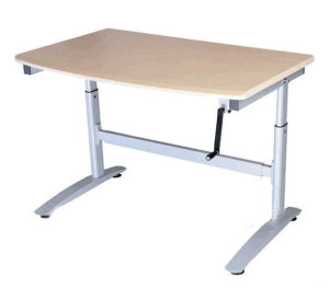 Hand Crank Heght Adjustable Computer Desk (LDG-CD202) pictures & photos