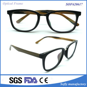 Fashionable Optical Eyeglasses Frame with Acetate Temple pictures & photos