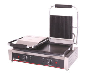 Electric Double Phase Sandwish Panini Grill pictures & photos