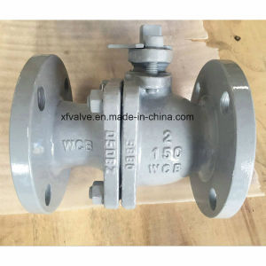 150lb Cast Steel Wcb Floating Type Flange End Ball Valve