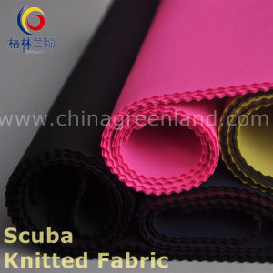 Polyester Spandex Scuba Knitted Fabric for Garment Textile (GLLKQC002) pictures & photos
