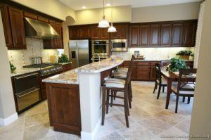 Dark Walnut Kitchen Cabinets (dw26) pictures & photos