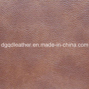 Two-Tone Printed PU Leather (QDL-52104) pictures & photos