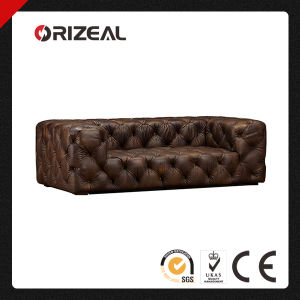 Orizeal Classic French Style Soho Tufted Genuine Leather Sofa (OZ-LS-2035) pictures & photos