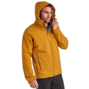 Men Hoody Softshell Jacket Backed with Sherpa Fleece pictures & photos