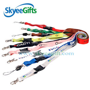 Cheap Price Custom Logo Embroidery Keychain Short Lanyard pictures & photos