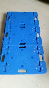 150kgs Blue Plastic Turtle Trolley with Blue TPR Caster pictures & photos