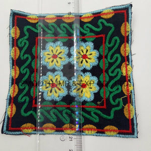 Fashion Vintage Colorful Square Ethnic Embroidery Patch Garment Accessorye Badge pictures & photos