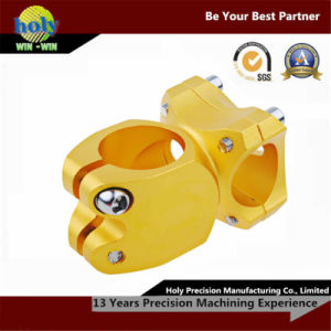 Precision CNC Aluminum Machining Parts with Yellow Anodizing Finish pictures & photos