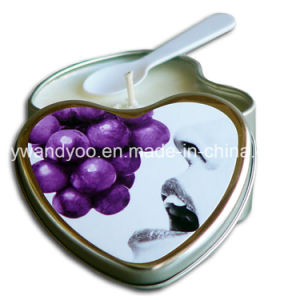 Romantic Heart Shape Tin Massage Candles for Wedding Gift pictures & photos