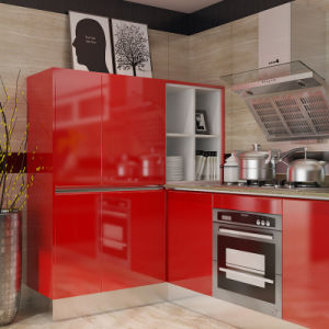 Oppein Top Grand Modern Red Lacquer & Acrylic Kitchen Cabinets (OP15-L04) pictures & photos
